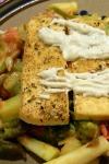 Asparagus Caesar Salad with Tofu Fries (EHH)