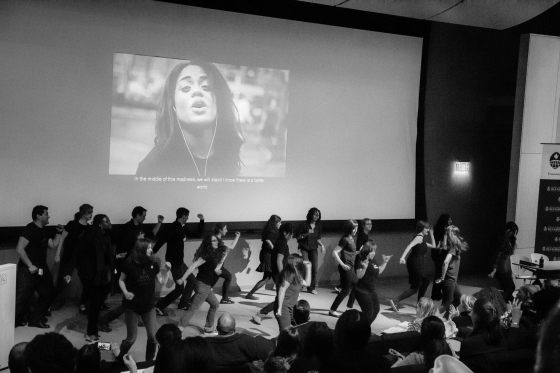 Strike. Rise. Dance.One Billion Rising flash mob.